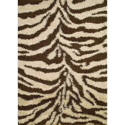 Shaggy Zebra Brown & Tan Area Rug by Concord