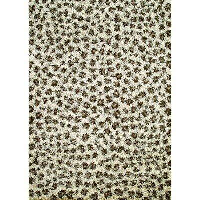Concord Global Imports Shaggy Leopard Ivory Area Rug