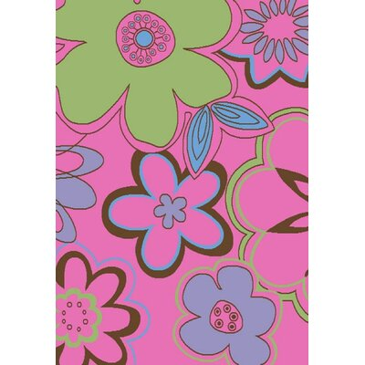 Alisa Groovy Flowers Kids Area Rug by Concord