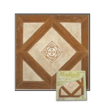 """Home Dynamix Dynamix Vinyl Tile 12"""" x 12"""" Luxury Vinyl Tiles in Madison Woodtone/Stone"""