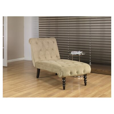 Curves Velvet Chaise Lounge by Ave Six