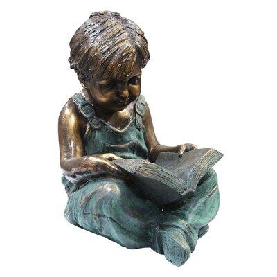 Alpine Boy Sitting Down Reading Book Statue