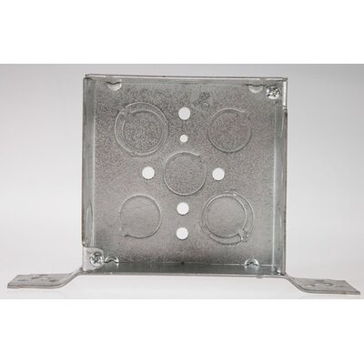 "HubbellRaco 4"" Square Bracketed Electrical Box"