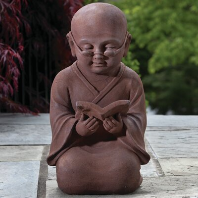 Reading Buddha Statue by Alfresco Home