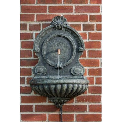 Alfresco Home Vicenza Outdoor Resin Wall Fountain