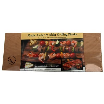 3 Count Grilling Planks Set by NaturesCuisine