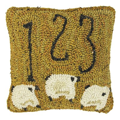 Primitive Counting Sheep Throw Pillow by Homespice Decor