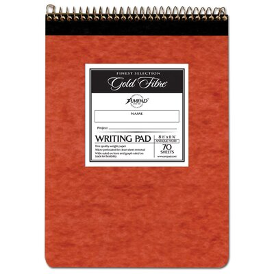 "Pendaflex 8-1/2"" x 11-3/4"" 70 Sheet Wide Rule Writing Pad in Ivory"