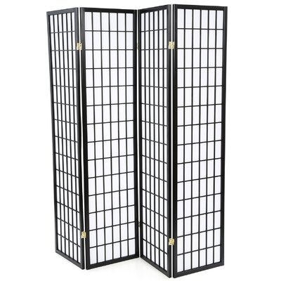 """Wildon Home ® 70.25"""" x 69"""" Quincy Japanese Folding 4 Panel Room Divider"""