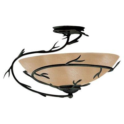 Peony Light Semi Flush Mount or Ceiling Fan Light Product Photo
