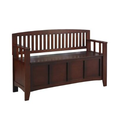 Linon Cynthia Solid Wood Storage Entryway Bench