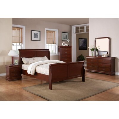 Louis Phillip Sleigh Customizable Bedroom Set by Wildon Home ®