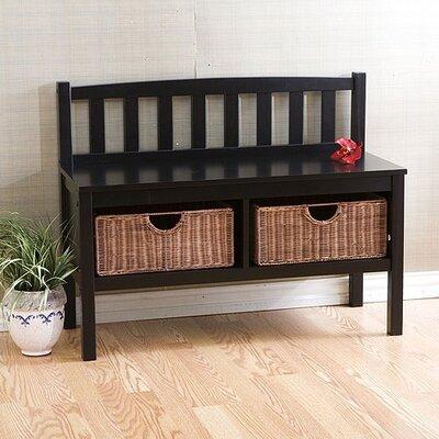 Wildon Home ® Hampton Storage Bench with Rattan Baskets