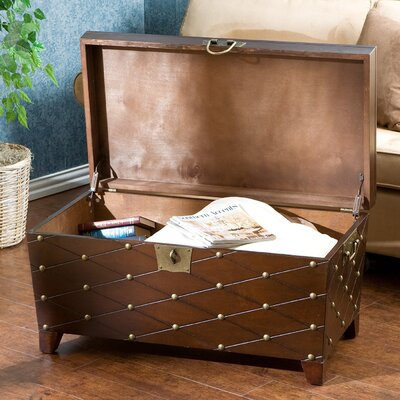Wildon Home ® Boulstridge Nailhead Trunk Coffee Table