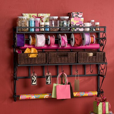 Lynbar Wall Mount Craft Large Storage Rack with Baskets by Wildon Home ®