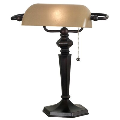 "Wildon Home ® Chesapeake Bankers 15.25"" H Table Lamp with Rectangular Shade"