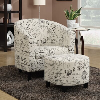 Barrel Chair and Ottoman by Wildon Home ®