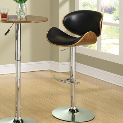 Adjustable Height Bar Stool with Cushion by Wildon Home ®
