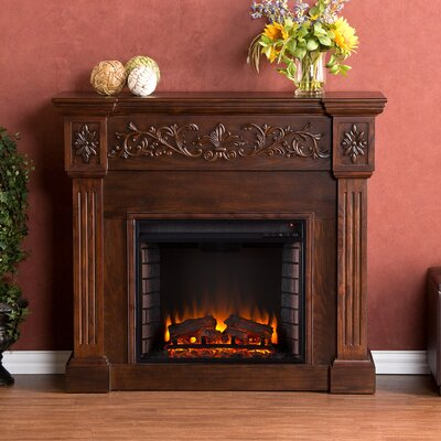 Oakley Electric Fireplace in Espresso by Wildon Home ®