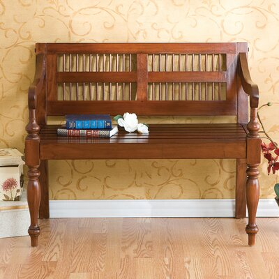 Penumbra Classic Wood Bench in Mahogany by Wildon Home ®