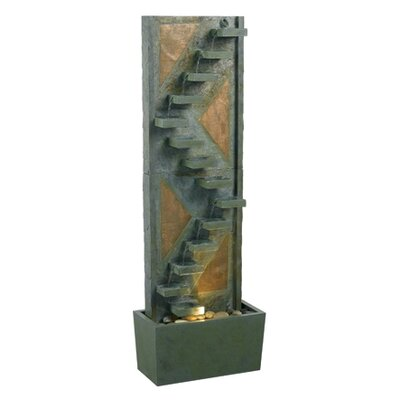 Hydrangea Slate Floor Fountain by Wildon Home ®