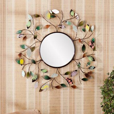 Wildon Home ®  Bradshaw Decorative Metallic Leaf Wall Mirror