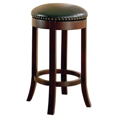 "Wildon Home ® Perris 29"" Swivel Bar Stool with Cushion"