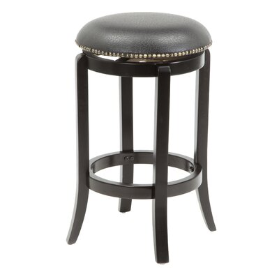 "Wildon Home ® 24"" Swivel Bar Stool with Cushion"