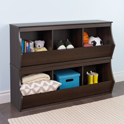 Wildon Home ? Stacked 6 Bin Storage Cubby Storage Cubby