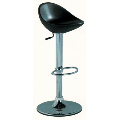Contemporary Adjustable Height Swivel Bar Stool with Cushion by Wildon Home ®