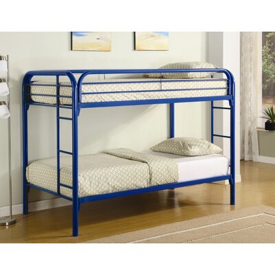 Wildon Home ® Framington Twin over Twin Bunk Bed with Built-In Ladder