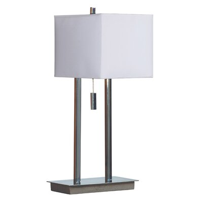 "Wildon Home ® Emilio 26"" H Accent Table Lamp with Square Shade"