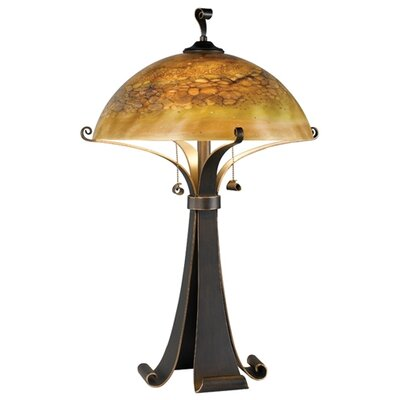 "Wildon Home ® Santa Fe Bourne 28.38"" H Table Lamp with Bowl Shade"