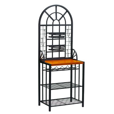 Wildon Home ® Wallace Bakers Rack in Black