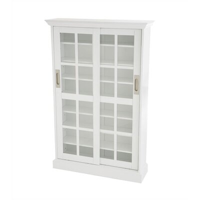 Constance Sliding Door Multimedia Cabinet in White by Wildon Home ®
