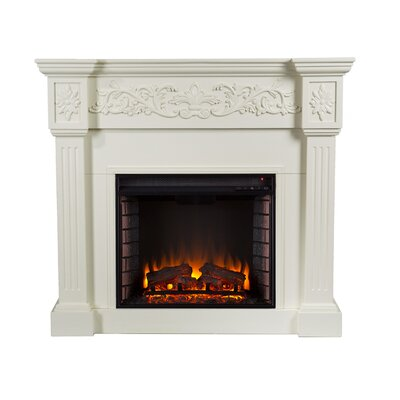 Wildon Home Oakley Electric Fireplace In Ivory Reviews