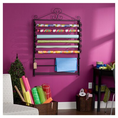 Wildon Home ® Verosa Easel / Wall Mount Craft Storage Rack in Black