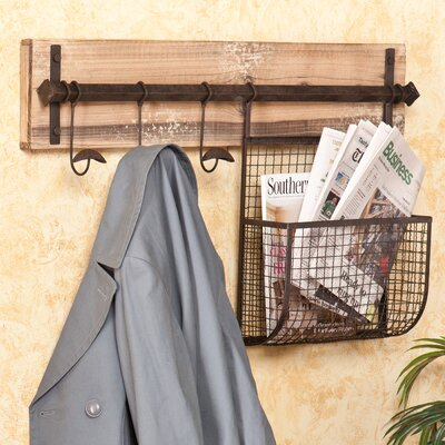 Hampton Entryway Wall Coat Rack with Storage by Wildon Home ®