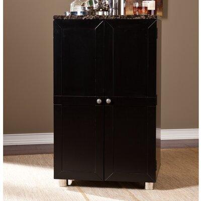 Capri Bar Cabinet with Wine Storage by Wildon Home ®