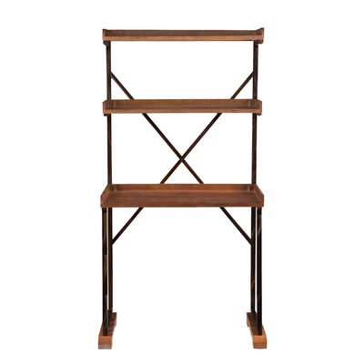 Torrance Writing Desk with 2 Shelves by Wildon Home ®