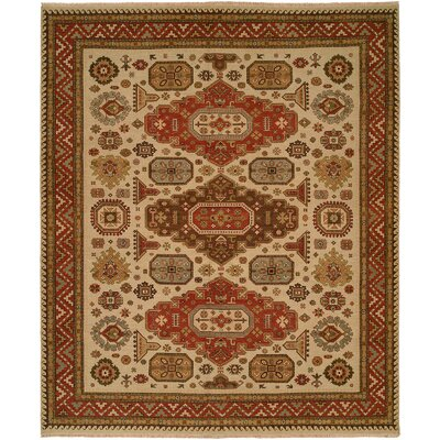 Ivory / Red Rug by Wildon Home ®