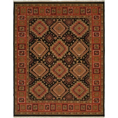 Black/Red Area Rug by Wildon Home ®