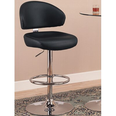 Colorado City Adjustable Height Swivel Bar Stool with Cushion by Wildon Home ®
