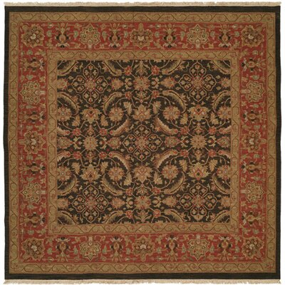 Soumak Hand-Knotted Blue / Rose Area Rug by Wildon Home ®