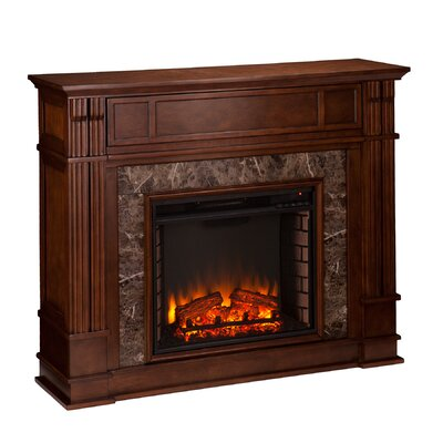 Wildon Home Fleming Faux Stone Electric Fireplace