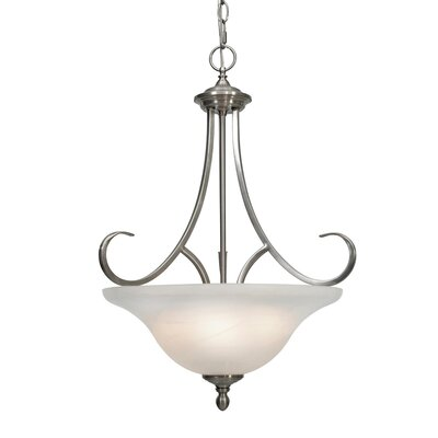 Wildon Home ® Alberta 3 Light Bowl Inverted Pendant