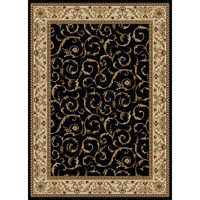 Caitie Black Area Rug by Wildon Home ®
