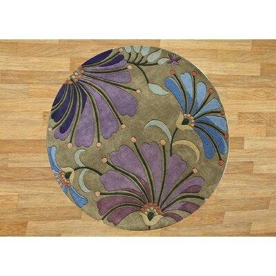 Ambrosia Hand-Tufted Khaki Green Area Rug by Wildon Home ®
