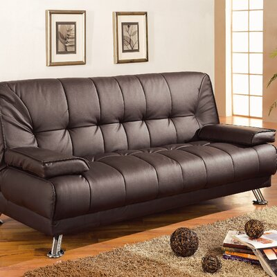 Wildon Home ® Convertible Sofa in Rich Brown