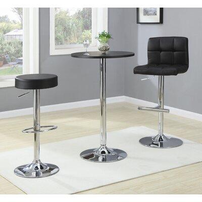 Wildon Home ® Groom Adjustable Height Bar Stool with Cushion